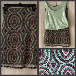 LuLaRoe Azure Skirt - XL